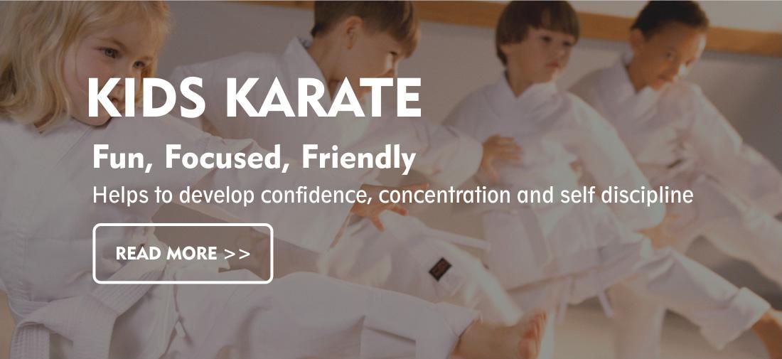Children taking part in karate in Hertfordshire
